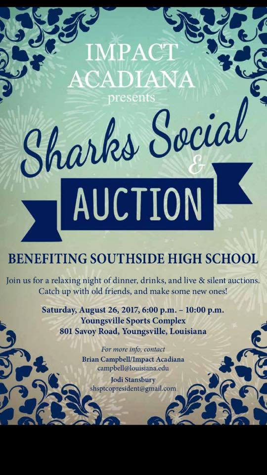 Shark N Social @ Youngsville Sports Complex Recreation Center | Youngsville | Louisiana | United States