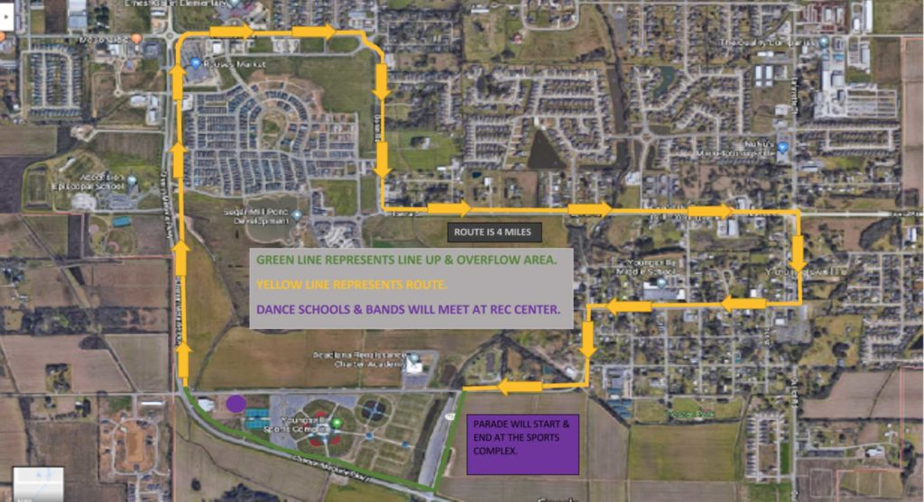 Youngsville 2018 Parade Route