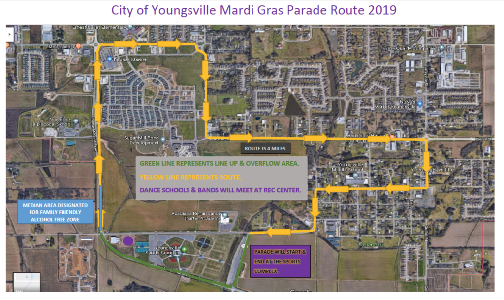 Mardi Gras Parade Permit Application City Of Youngsville
