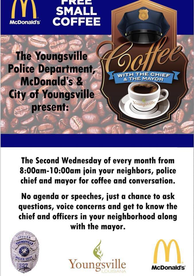 Coffee with the Mayor & the Chief @ McDonald's  | Youngsville | Louisiana | United States