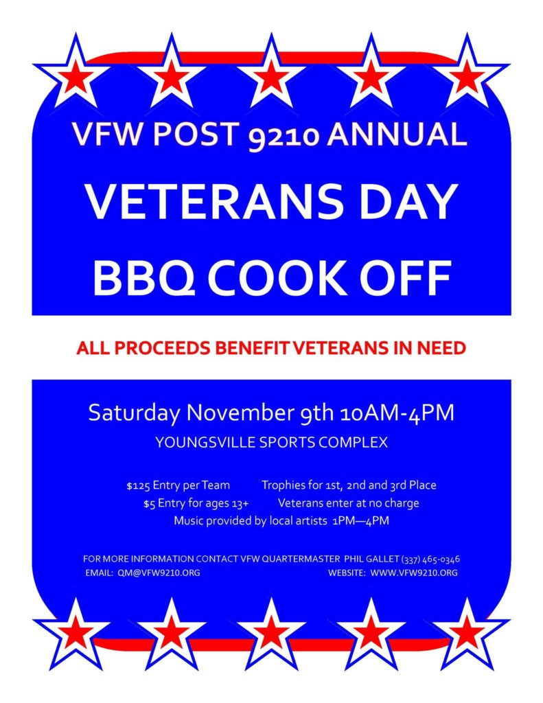 VFW Post 9210 BBQ Cookoff @ Youngsville Sports Complex | Youngsville | Louisiana | United States