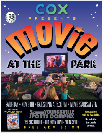 Movie at the Park @ Youngsville Sports Complex | Youngsville | Louisiana | United States