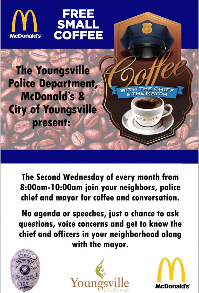 Coffee with the Mayor & the Chief @ McDonalds | Youngsville | Louisiana | United States