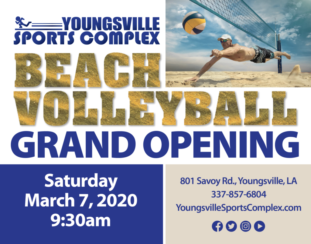 Beach Volleyball Grand Opening Ceremony @ Youngsville Sports Complex   Youngsville   Louisiana   United States