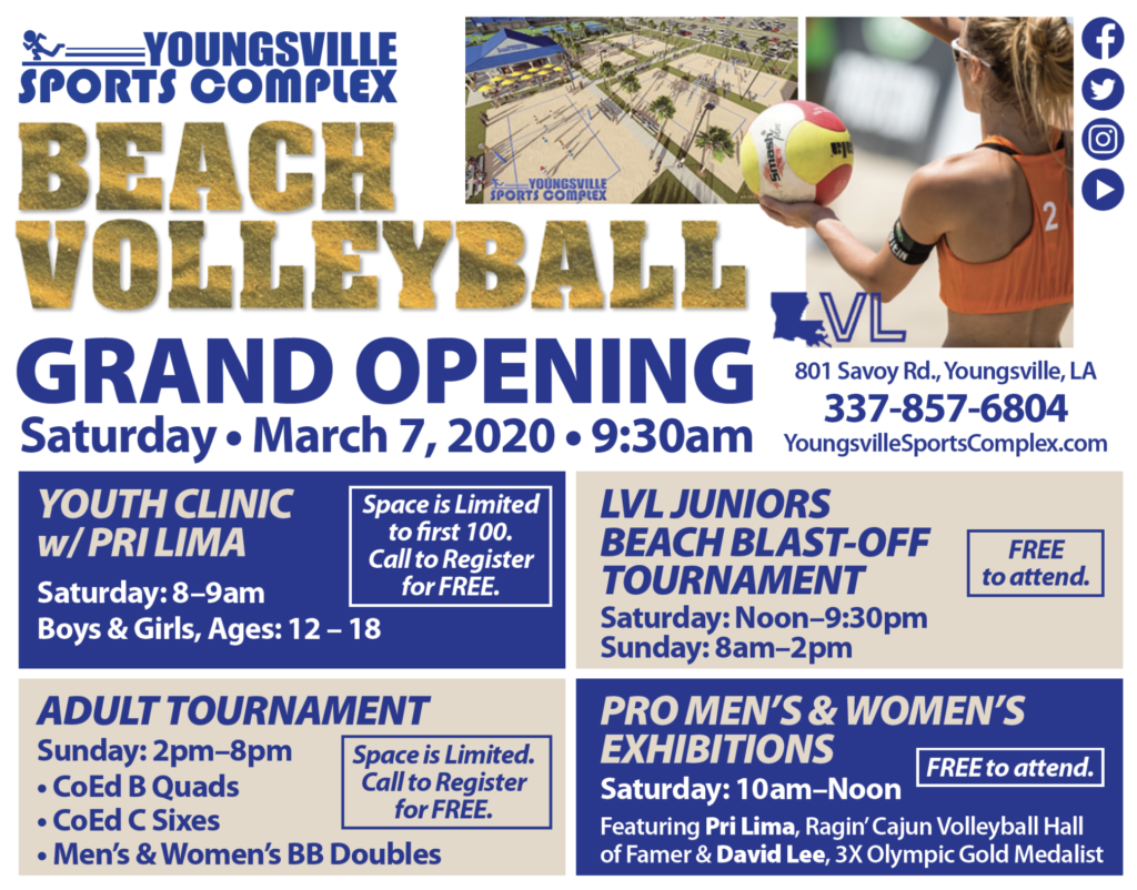 Beach Volleyball Grand Opening Kickoff Weekend @ Youngsville Sports Complex   Youngsville   Louisiana   United States